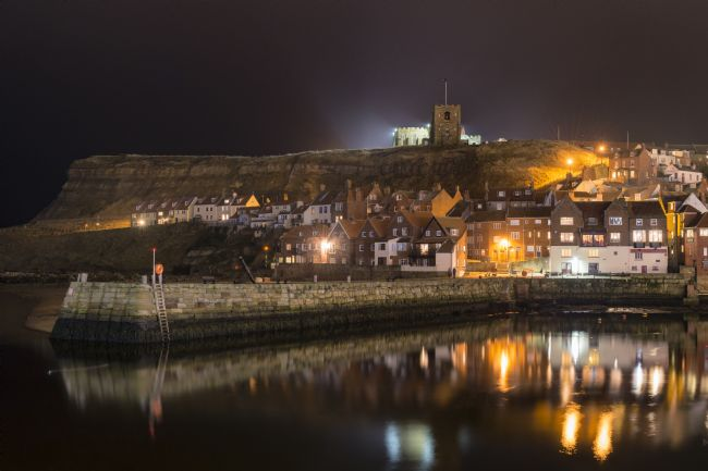 Richard Burdon | Whitby harbour at Night