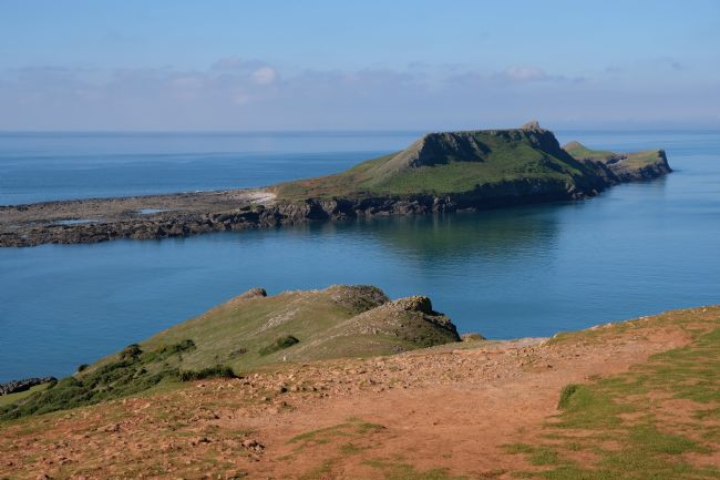 Len Pugh DPAGB | Worms Head, Gower Peninsular.