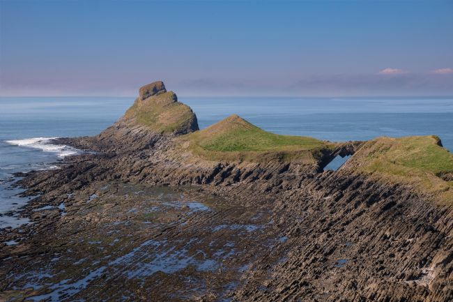 Len Pugh DPAGB | Worms Head at Low tide