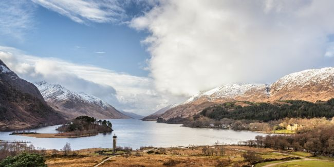 Heidi Stewart | Jacobite Memorial and Loch Shiel in Winter
