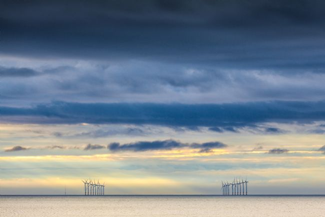 Heidi Stewart | Wind Turbines at Sunset