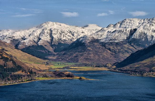 Jacqueline Elmslie | Snowy mountains surrounding the head of Loch Duich