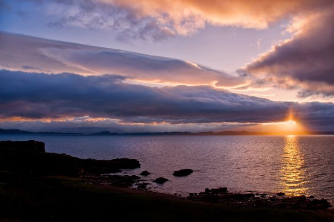 Jacqi Elmslie | Sunset from Lonbain near Applecross