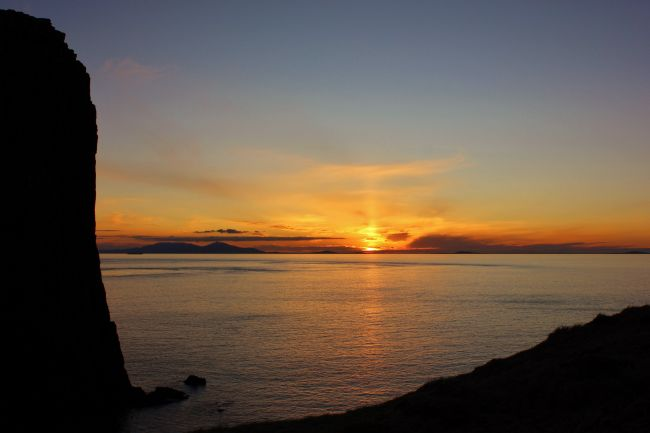 Susan Snow | Silhouette and Sunset at Neist Point Isle of Skye