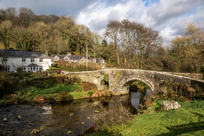 Jean Fry | Huckworthy Bridge on the River walkham on Dartmoor