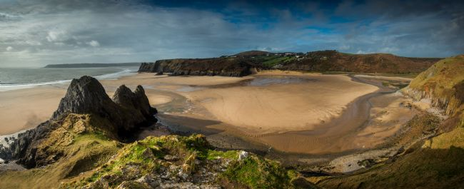 Nigel Forster | Three Cliffs Bay panorama
