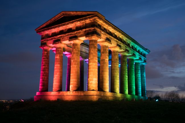 John Stoves | Penshaw Monument Rainbow Colours
