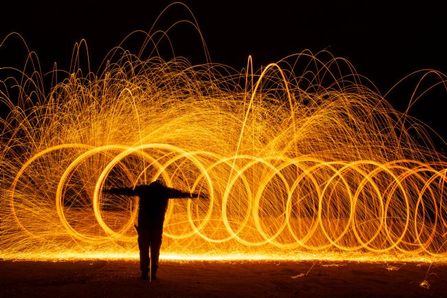 John Stoves | Wire wool Spinning and a Cross