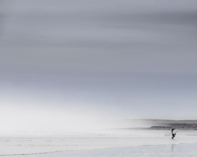 david pearce | surfer in the mist