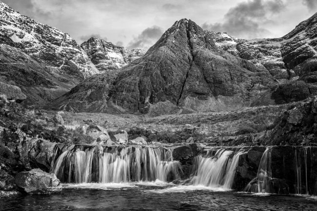 David McHutchison | Fairy Pools, Glenbrittle (Monochrome)
