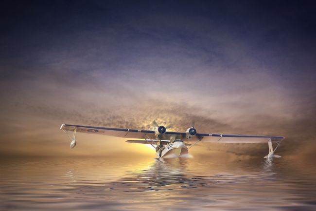 Robert Lester | PBY Catalina sunset