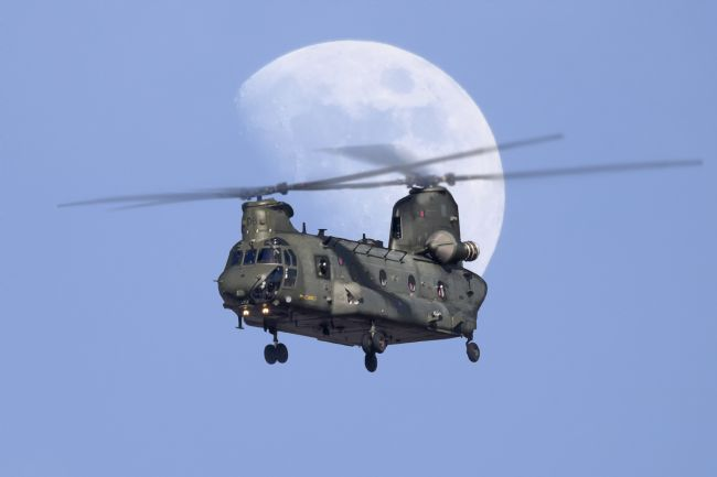 Rob Lester | CH 47 Chinook Moonrise