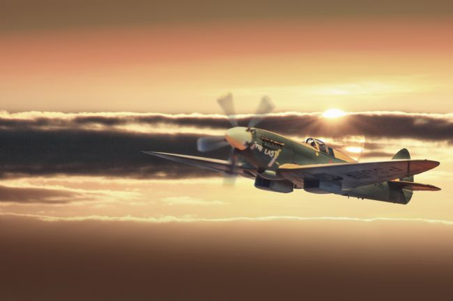 Rob Lester | The Last Spitfire Climbs in the sun