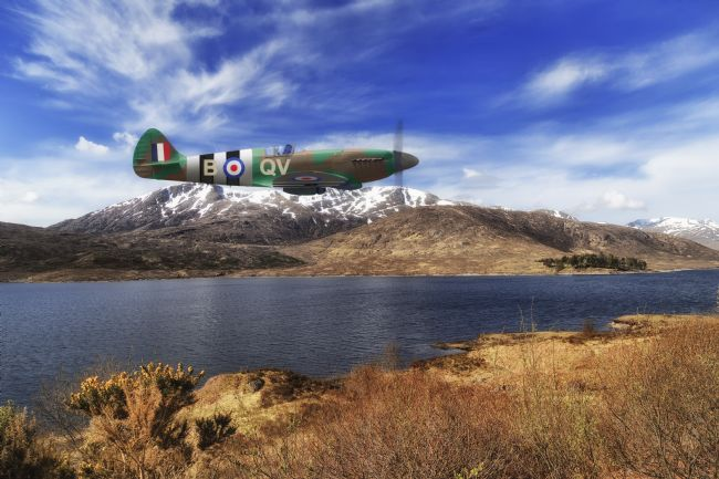 Rob Lester | Spitfire_Low level Loch Pass