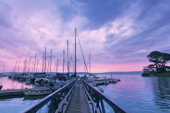 Terri Waters | Mylor Boardwalk at Sunrise