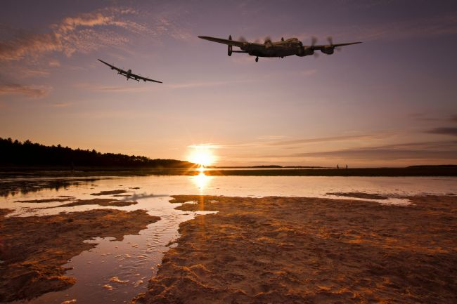 Paul Macro | Lancasters over Holkham (Composite)