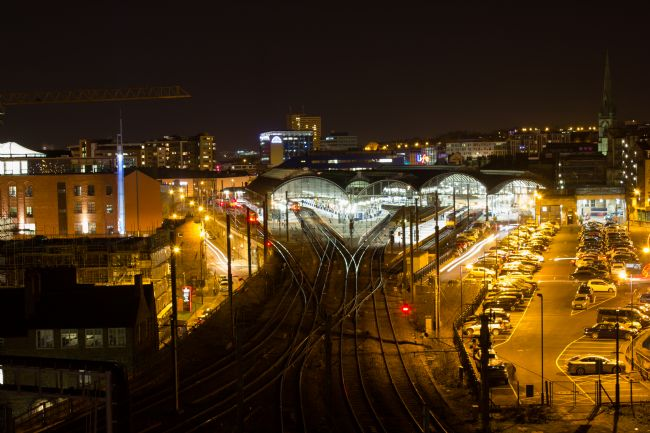 A Blakey | Illuminated Central Station, Newcastle