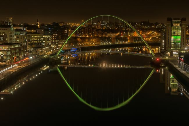 A Blakey | River tyne View - millennium bridge Green