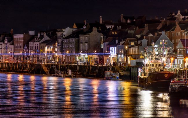 Mark Ingleby | Whitby Harbour At Night