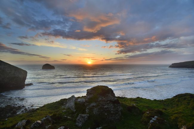Robert Parsons | Cornwall: Sunset at Trebarwith Strand