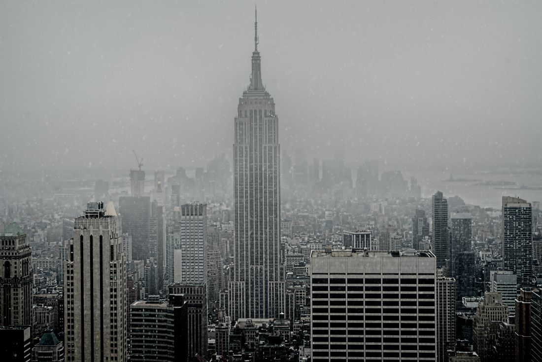 Chris Lord | April Snow Showers Over Manhattan