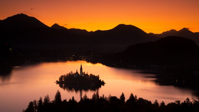 Ian Middleton | Lake Bled from Ojstrica at sunrise