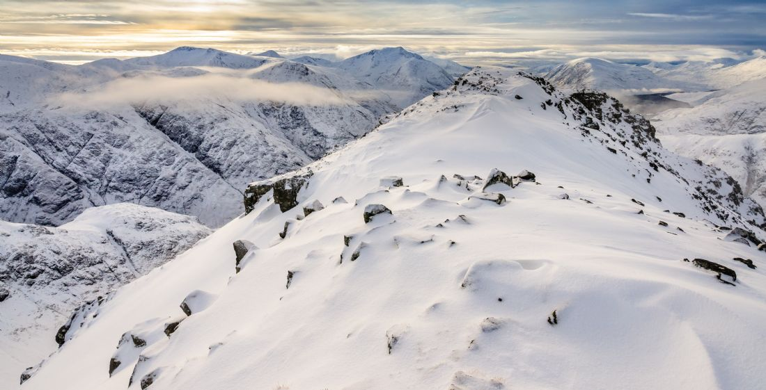 George Robertson | Glencoe mountains in WInter