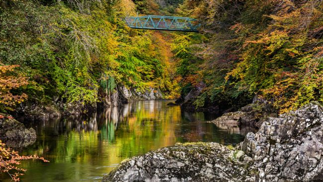 George Robertson | Bridge over the River Garry in Autumn
