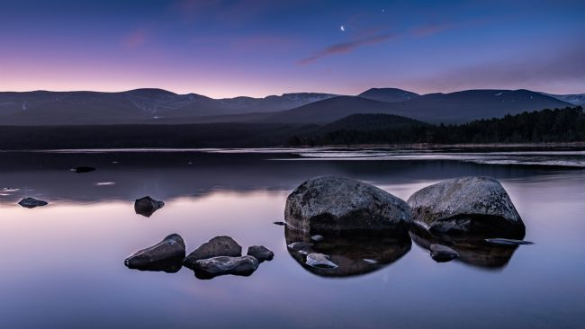George Robertson | Sunrise at Loch Morlich, Scotland