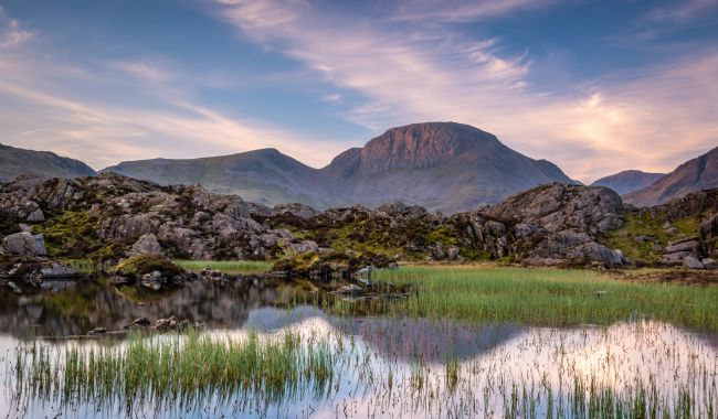 George Robertson | Reflections of Great Gable at Sunrise
