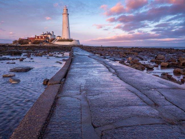 George Robertson | St Marys Lighthouse on Northumbrian Coast