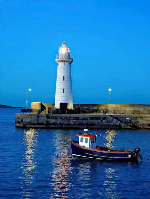 Adam Walker | Donaghadee Lighthouse at dusk.