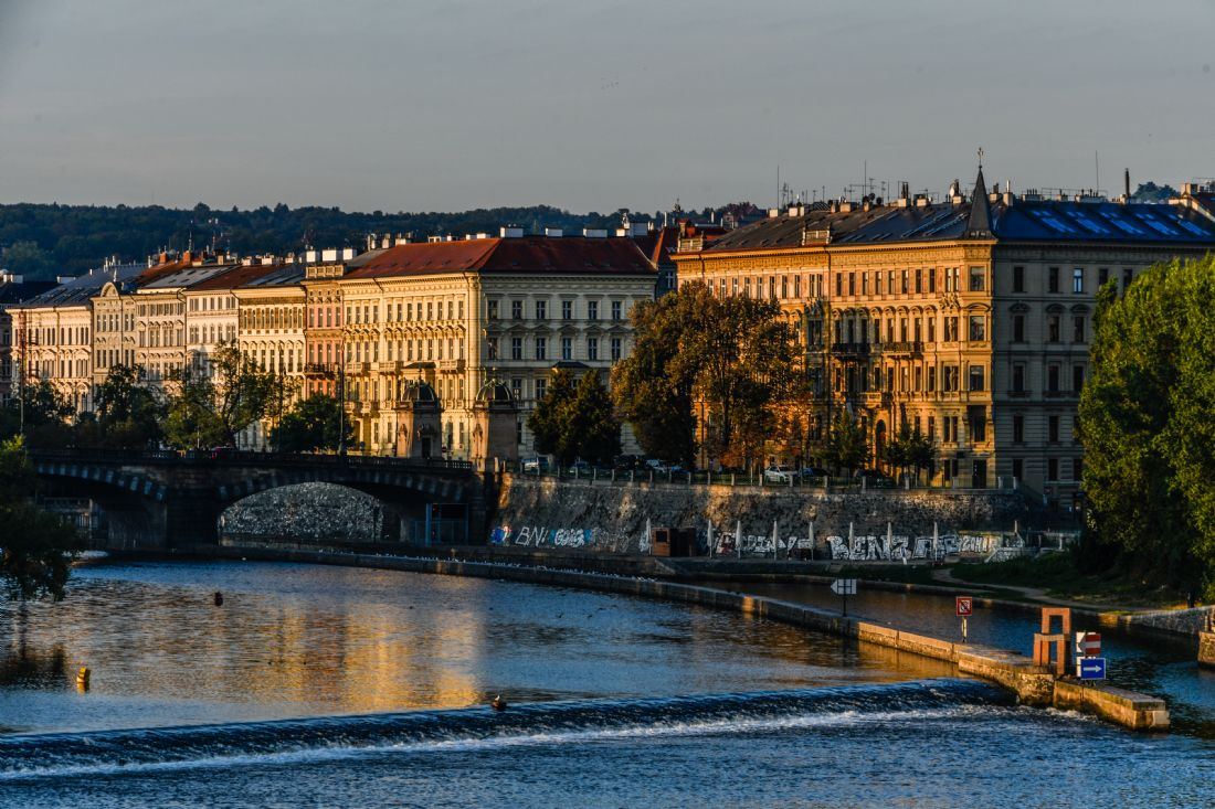 Mike Carroll | The west bank of the River Vltava in Prague, in the early morning