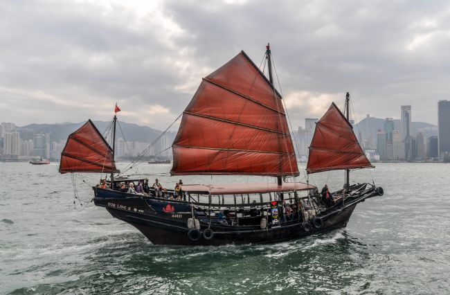 Mike Carroll | Duk Ling pleasure boat in Hong Kong Harbour