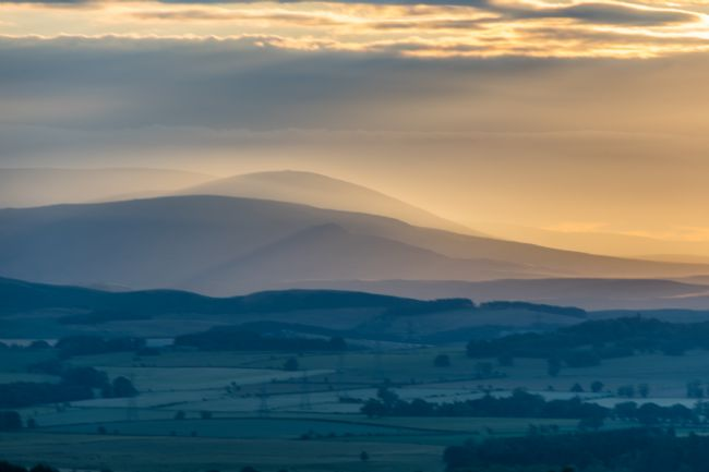 Mike Carroll | Sunset over the Cheviot Hills