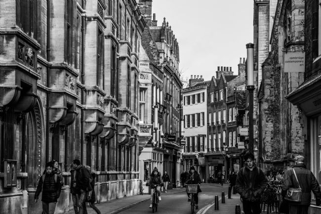 Mike Carroll | Trinity Street, Cambridge, B&W