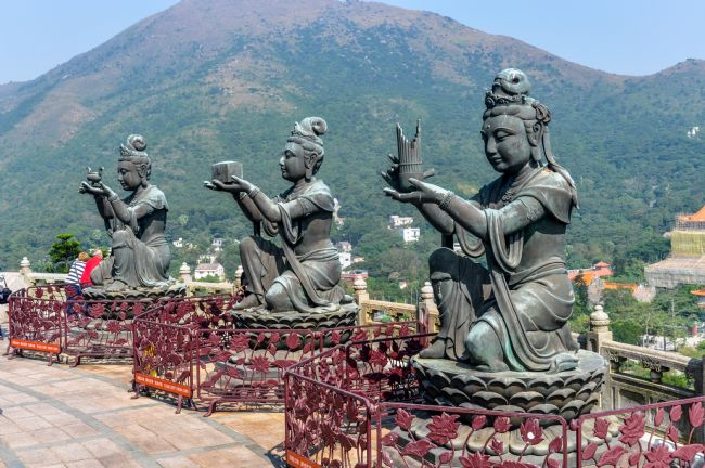 Mike Carroll | Buddhist Statues at the Big Buddha, Hong Kong