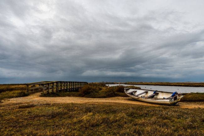 Mike Carroll | Gathering gloom at Morston Quay