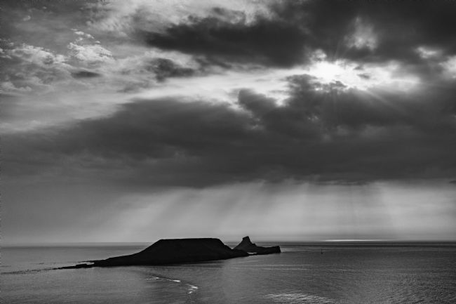 Dan Santillo | A Moody Sky over Worms Head