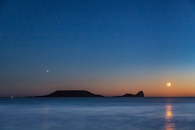 Dan Santillo | Worms Head with the setting moon