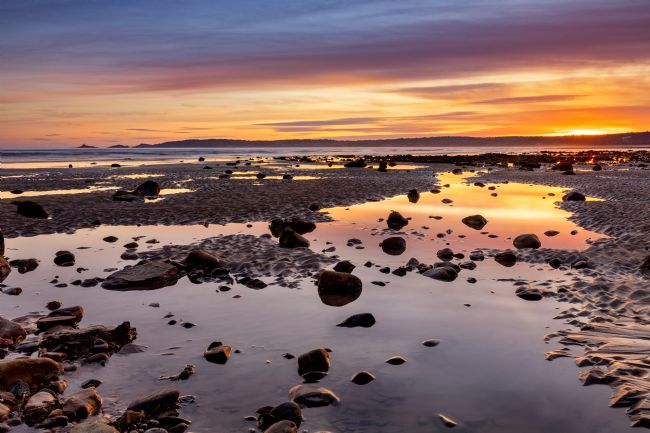 Dan Santillo | Sunset over Swansea Bay