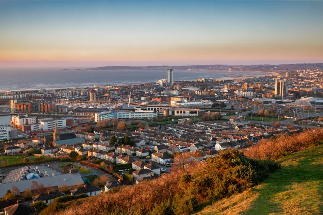 Dan Santillo | Swansea from Kilvey Hill at sunrise