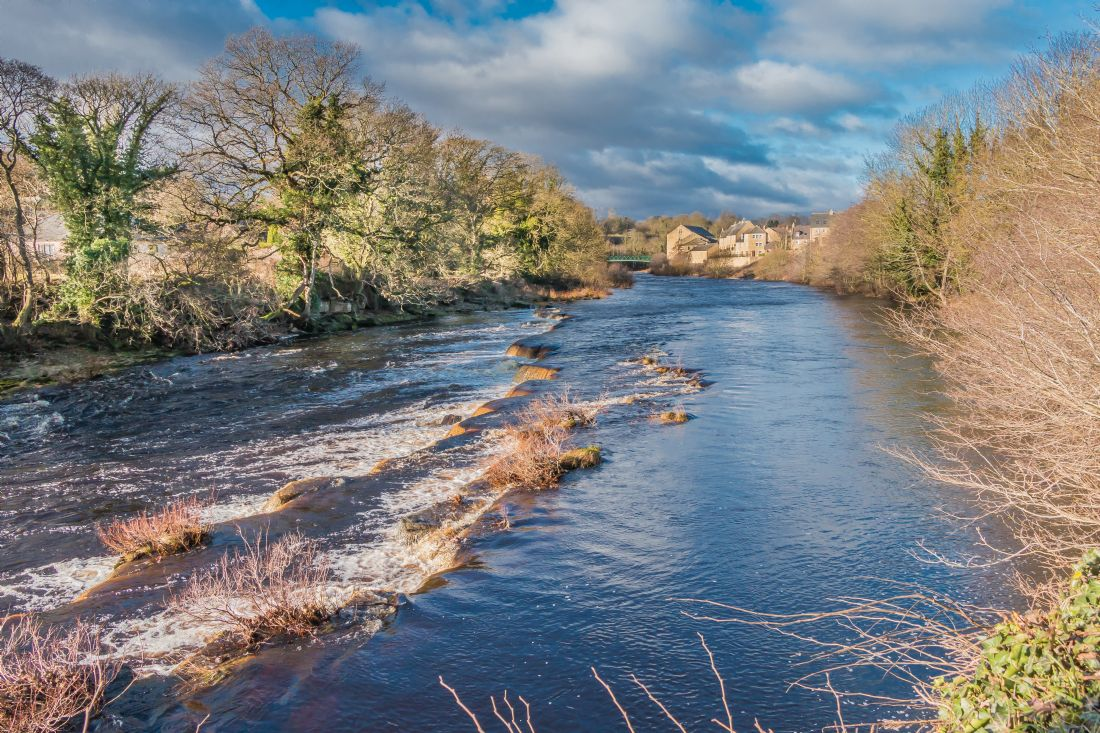 Richard Laidler | Winter Sun on the River Tees at Barnard Castle, Teesdale