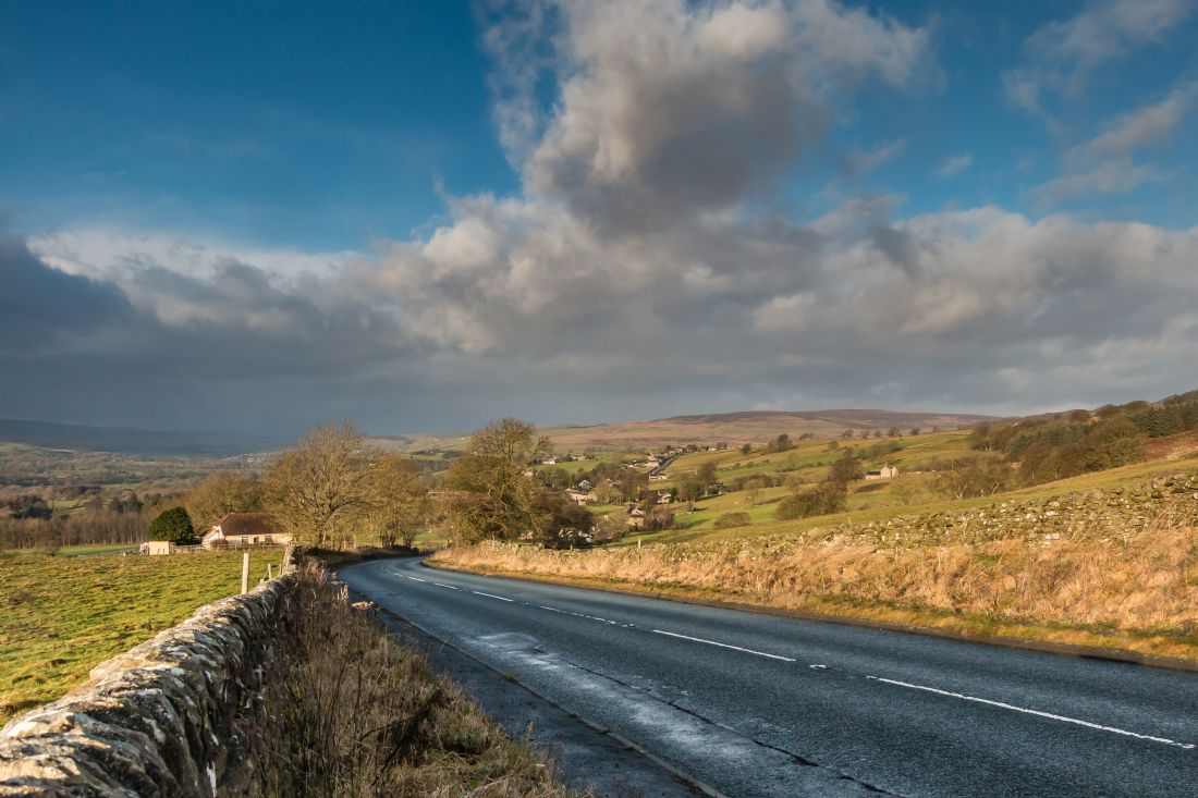 Richard Laidler | Eggleston, Teesdale under a Big Sky and Dramatic Light