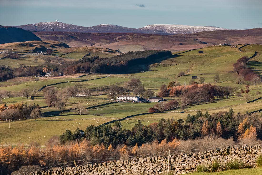Richard Laidler | Great and Little Dun Fells and Cross Fell from above Newbiggin