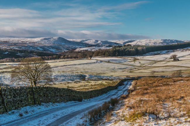 Richard Laidler | A Snow Covered Cronkley Fell from Ash Hill, Teesdale