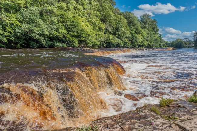 Richard Laidler | A Swollen River Tees at Whorlton, Teesdale