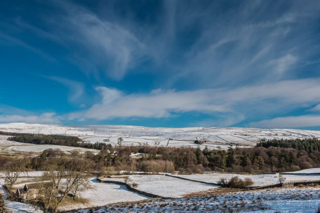 Richard Laidler | Big Winter Sky at Bowlees, Teesdale