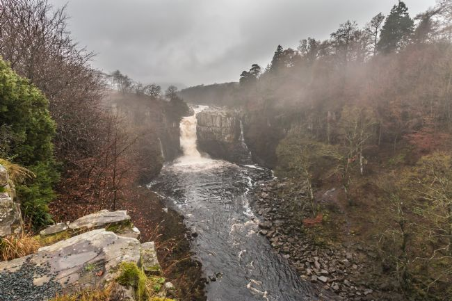 Richard Laidler | Fog lifting at High Force Waterfall, Teesdale