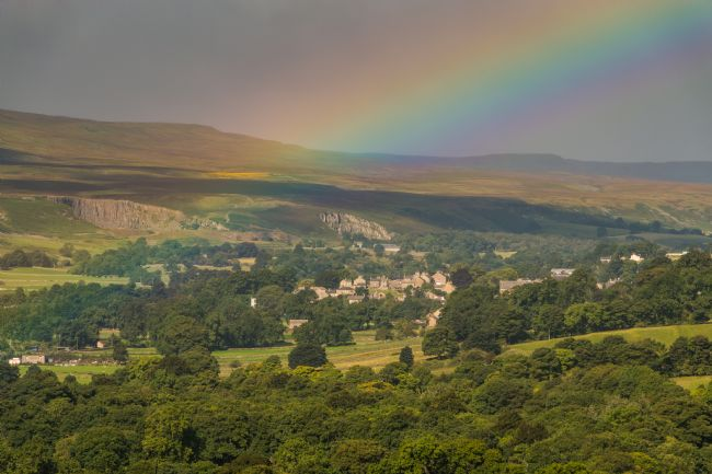 Richard Laidler | Rainbow over Middleton in Teesdale